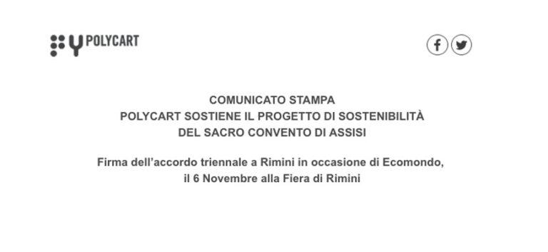 Polycart sostiene il progetto di sostenibilità del Sacro Convento di Assisi