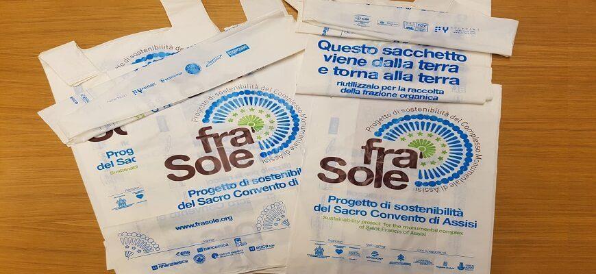 Fra' Sole: anche i sacchetti di Polycart per il Progetto di sostenibilità del Sacro Convento di Assisi
