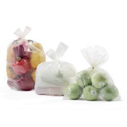 Sacchi e T-shirt bags ortofrutta in rotolo Ok Compost e Ok Compost HOME